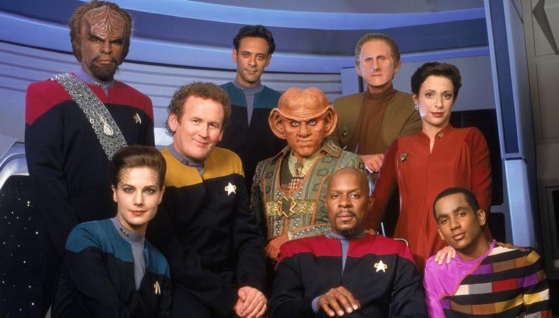 The main cast members of Deep Space Nine