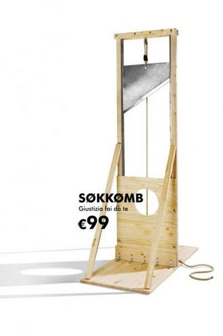 Illustration for article titled Ikea-Style DIY Guillotine Covers All Your Extreme Roleplaying Needs