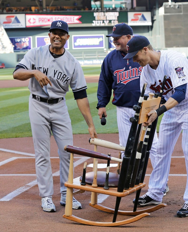 Illustration for article titled The Twins Gave Mariano Rivera A Chair Made Of Broken Bats