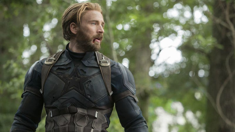 Chris Evans in Avengers: Infinity War, likely his penultimate appearance as Captain America.