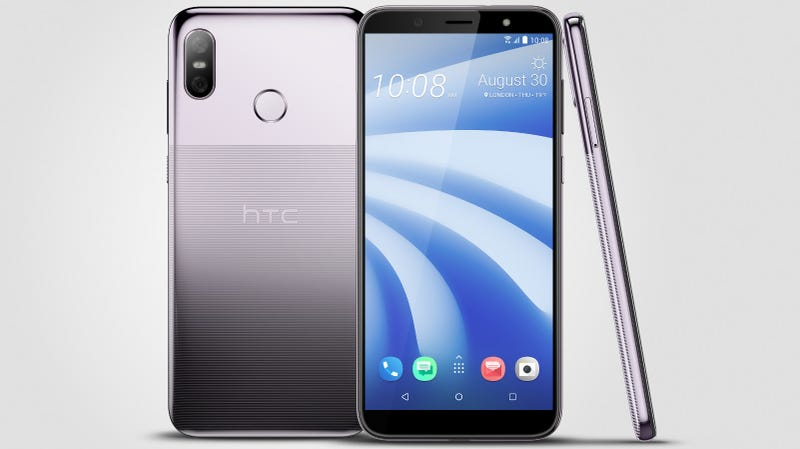 Illustration for article titled HTC's U12+ Looks Like an Awkward, Budget Hybrid of an iPhone X and a Pixel 2