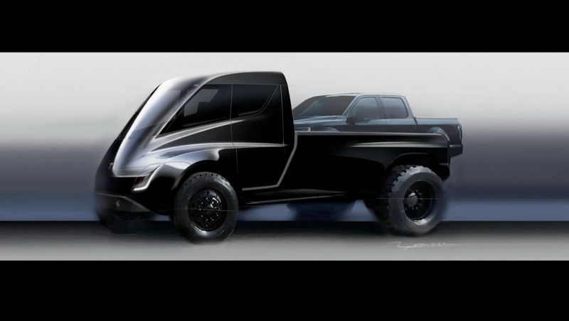 Illustration for article titled Elon Musk, Who Hasn't Fixed The Model 3 Yet, Promises Electric Truck Right After Next Other Car