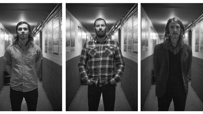 Dave Turncrantz, Brian Cook, and Mike Sullivan of Russian Circles (Photo: Paul Blau)