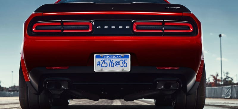 What Does The Dodge Challenger SRT Demon\'s Mysterious License Plate ...