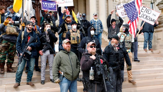 Right-Wing Protesters, Some Armed, Demand Governors End Social Distancing Measures