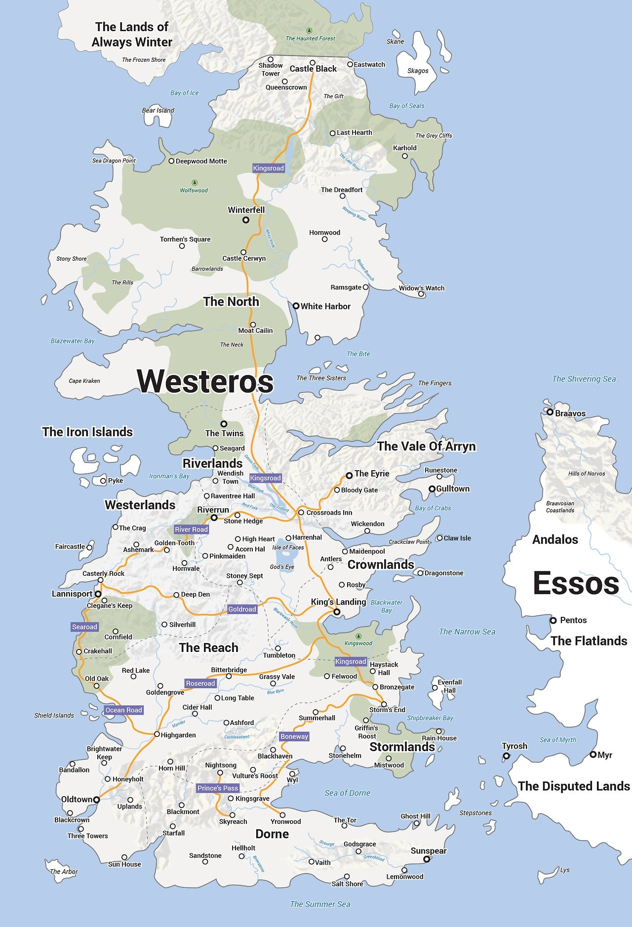 Nerdovore: More Maps of Westeros |Westeros Map