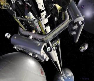 Illustration for article titled Carbon nanotubes will lift us to space