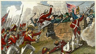 British and American troops at the Battle of Bunker Hill during the American Revolutionary War.Time Life Pictures/Getty Images