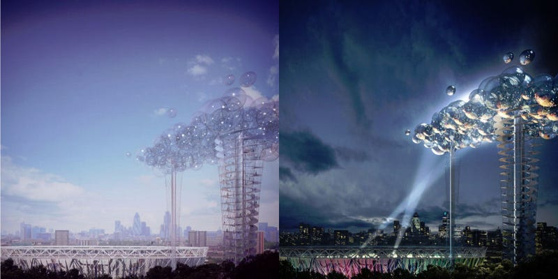 "Illustration for article titled Amazing 400ft Tall Spherical ""Cloud"" Structure Proposed for London Skyline"
