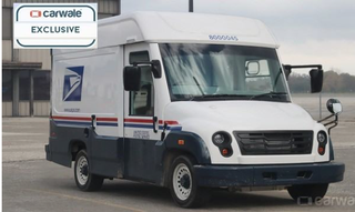 Illustration for article titled Mahindra USPS prototype spotted