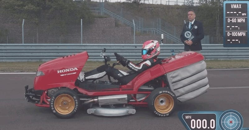 The World's Fastest Lawn Mower Can Get to 100 MPH Faster Than a McLaren F1