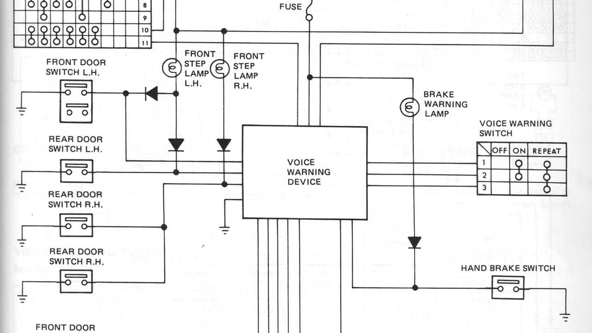 1982 Datsun Voice Warning Box Used Tiny Phonograph Record Just Like Brake Switch Wiring Diagram Moon Base Robots