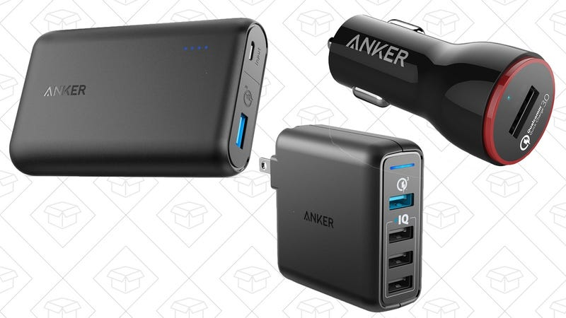 Anker PowerCore Speed 10000 Battery Pack, $25 with code ANKSPEED | Anker PowerPort Speed 4, $27 | Anker PowerDrive+ 1,  $11 with code ANKPU001