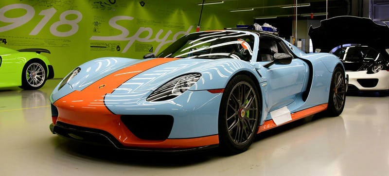 Illustration for article titled The Gulf Porsche 918 Of Your Dreams Is Finally Here