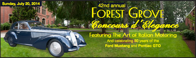 Illustration for article titled Save the Date: Forest Grove Concours d'Elegance- Sunday, July 20, 2014