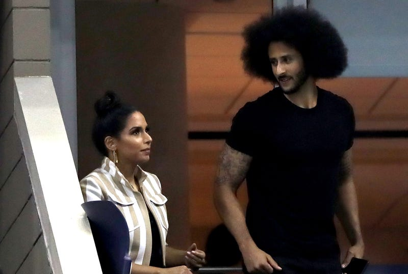 Former quarterback, Colin Kaepernick watches on during the ladies singles third round match between Serena Williams and Venus Williams of The United States on Day Five of the 2018 US Open at the USTA Billie Jean King National Tennis Center on August 31, 2018 in the Flushing neighborhood of the Queens borough of New York City.
