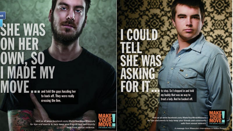 Illustration for article titled Powerful Posters Cleverly Highlight Sexual Assault Awareness