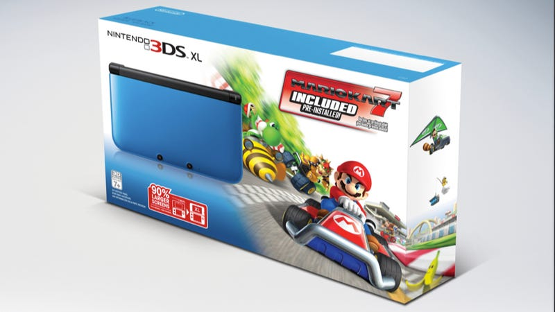Illustration for article titled New 3DS XL Bundle with Mario Kart 7 Races Out