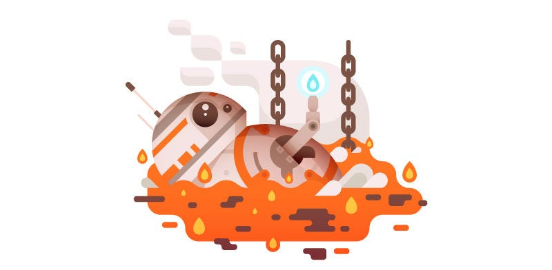This BB-8 Art Is Adorably Tragic