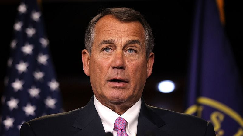 Illustration for article titled Boehner Hoping To Remain Leader Of Republican Parties