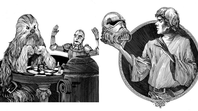 "Illustration for article titled What if Shakespeare wrote Star Wars? ""Alas, poor Stormtrooper!"""