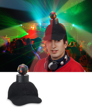 Illustration for article titled Disco Ball Hat Makes the Top of Your Head a Party Zone