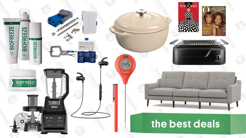 Illustration for article titled Saturday's Best Deals: Kreg Starter Kit, Razer Huntsman Pro, Burrow, ThermoPops, and More