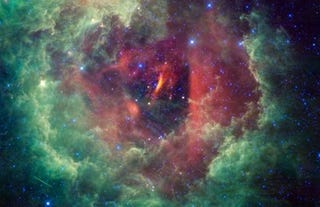 Illustration for article titled Rose-shaped nebula is home to the amateur astronomer's favorite star cluster