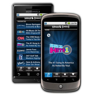 Illustration for article titled Sirius XM Radio Comes To Android With a Free 7-Day Trial
