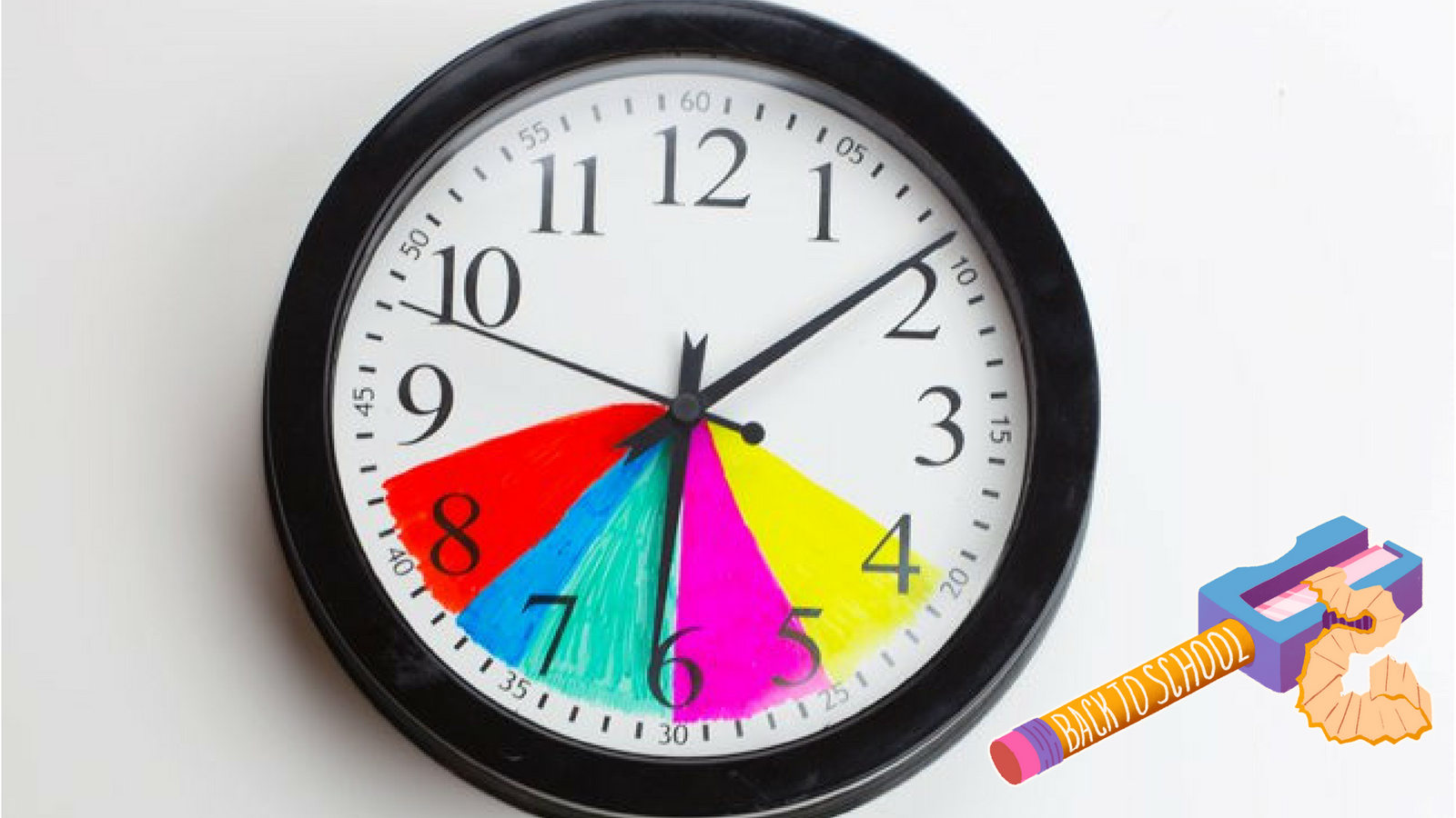 Make After School Routines Easier By Color Coding A Clock
