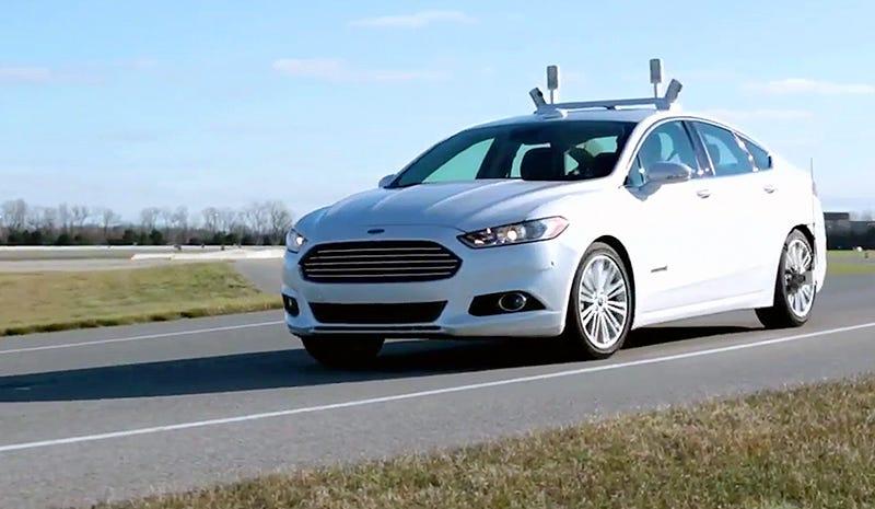 """Illustration for article titled El nuevo coche de Ford se conduce solo gracias a sus """"ojos"""" láser"""