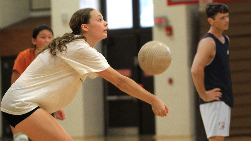 Illustration for article titled No One In Gym Class Volleyball Game Willing To Set Ball