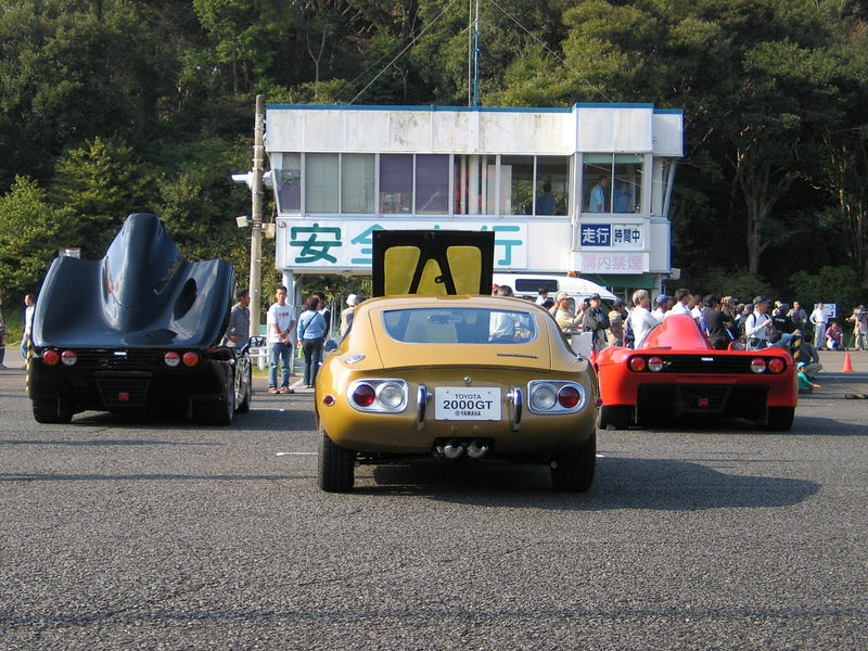 Illustration for article titled Two Yamaha OX99-11s And A Toyota 2000GT