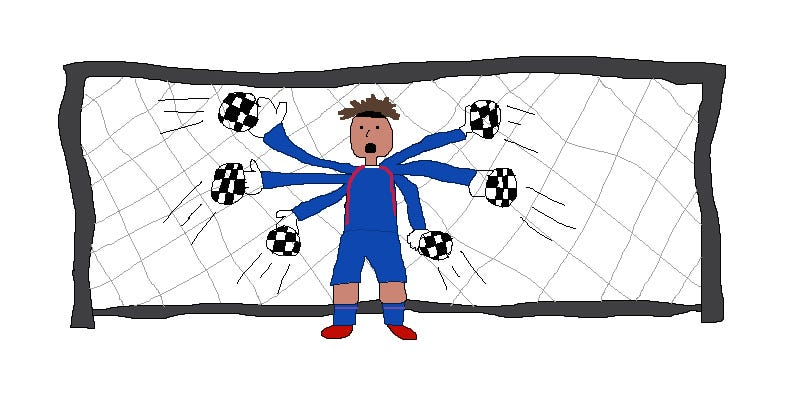 Illustration for article titled The World Cup Is Way Better In MS Paint Drawings