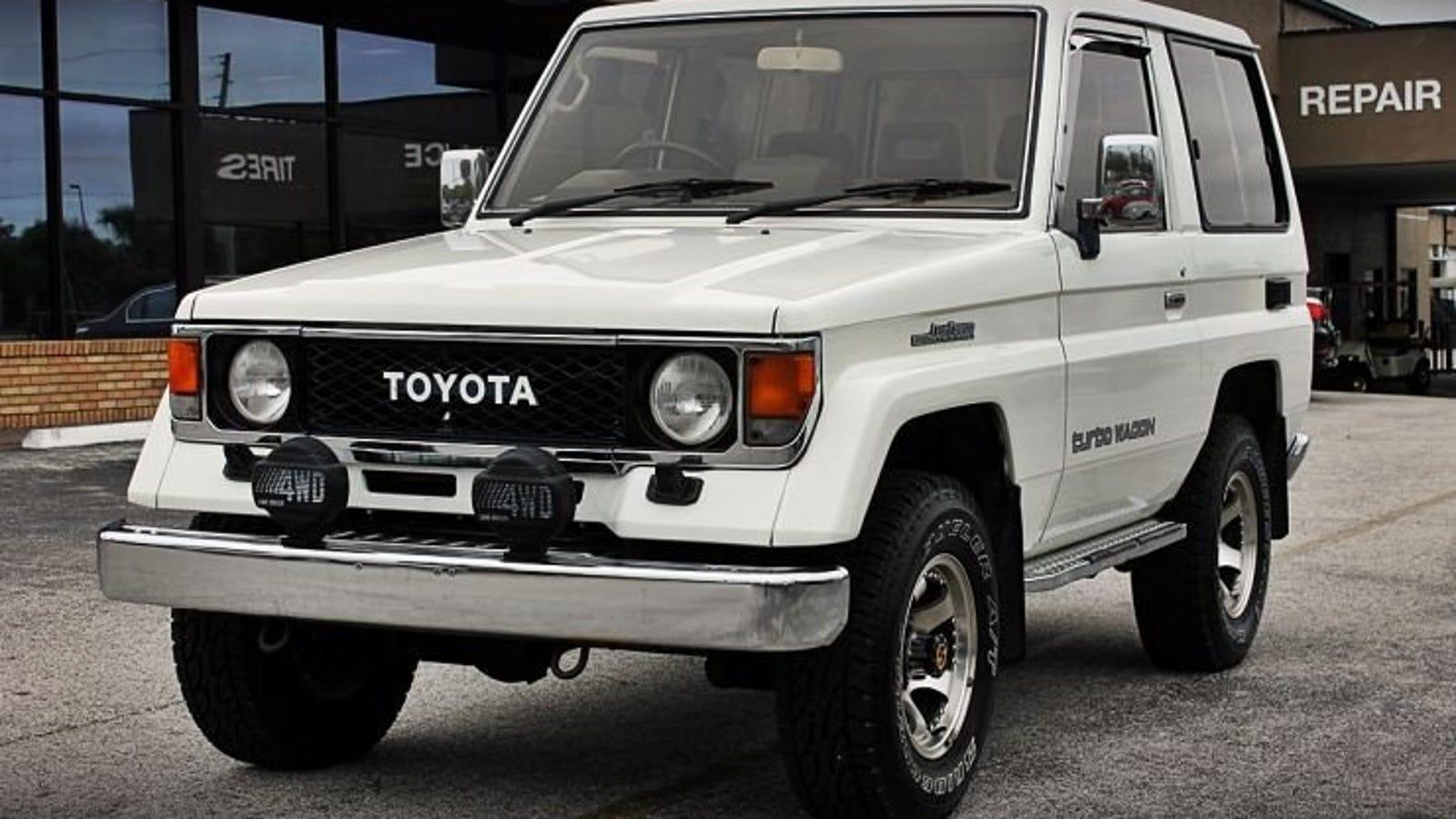 Toyota Land Cruiser J70 >> Npocp 1987 Toyota Land Cruiser J70 2 Door Turbo Diesel 19 975