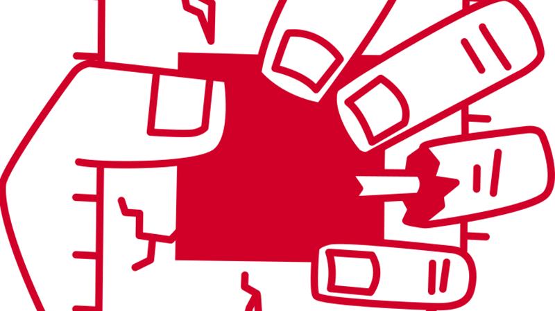 La mano de un zombie aplastando un procesador, porque toda gran vulnerabilidad necesita su logo.