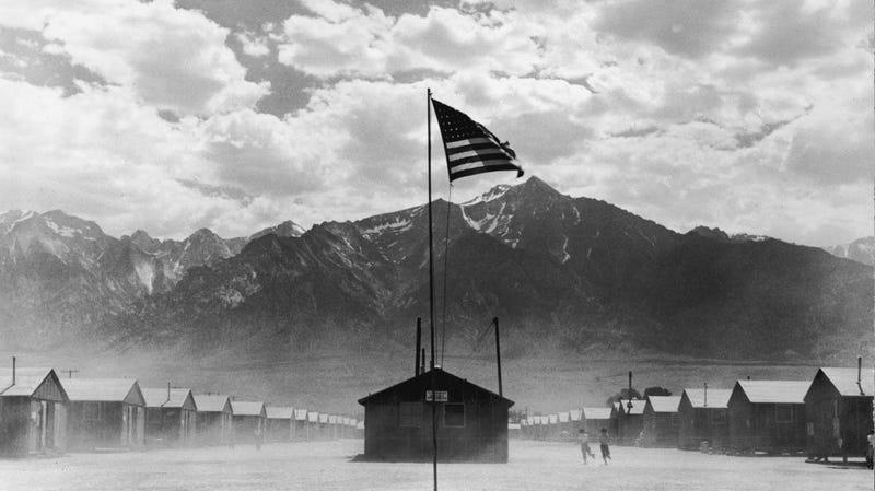 A Japanese-American internment camp in Manzanar, California, circa 1942