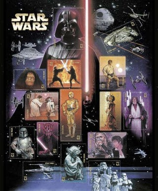 Illustration for article titled Star Wars Goes Postal With Fifteen 41-cent Stamps, Sweepstakes