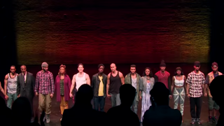Cast of Holler if Ya Hear Me, the Broadway play inspired by Tupac's musicHollerIfYaHearMe.com screenshot
