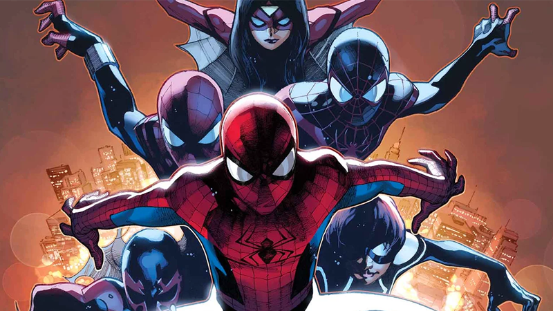 Spider-Man, Spider Woman, Spider-Man, Spider-Girl, Spider-Man, and Spider-Girl. Really!