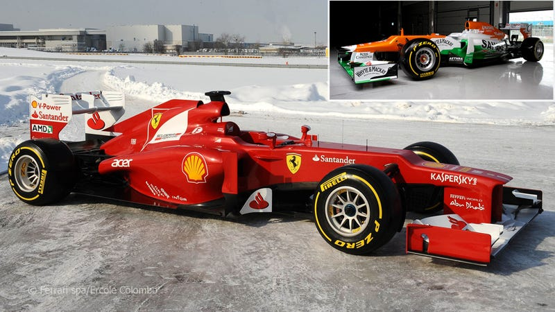 Illustration for article titled Ferrari's 2012 F1 Car Is An Ugly Fast Duckling