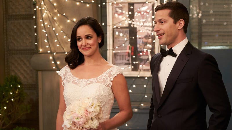 """Illustration for article titled With the promise of a new day, """"Jake & Amy"""" makes a near perfectBrooklyn Nine-Nineending"""