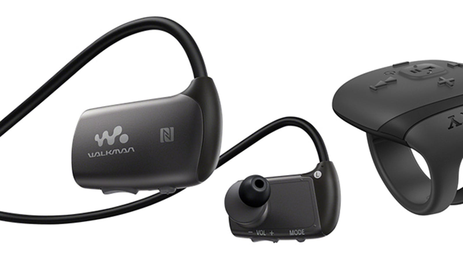 tangle free earbuds with case - Sony Includes a Ring Remote With Its New Underwater Headphones