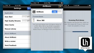 Illustration for article titled AirMusic Streams Your iPhone's Music Library to Your Xbox, PS3, and More