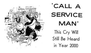 Illustration for article titled Call a Serviceman (Chicago Tribune, 1959)