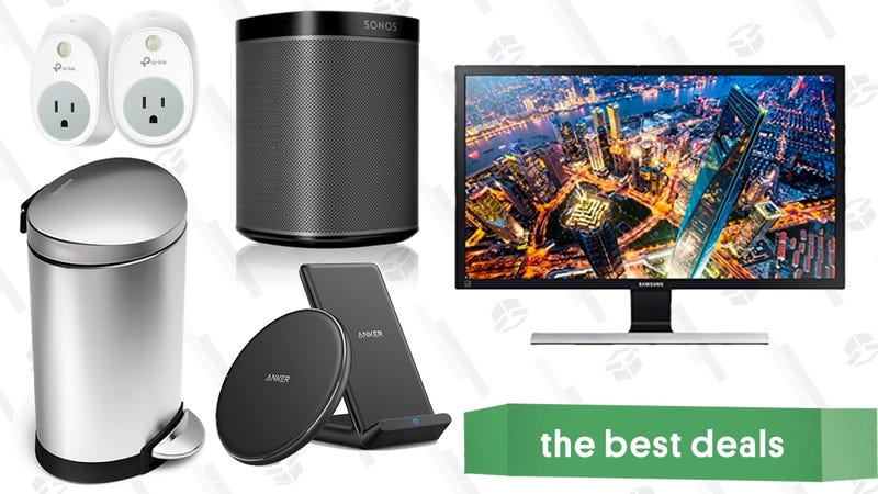 Illustration for article titled Wednesday's Best Deals: Sonos Speakers, 4K Monitor, simplehuman Trash Cans, and More
