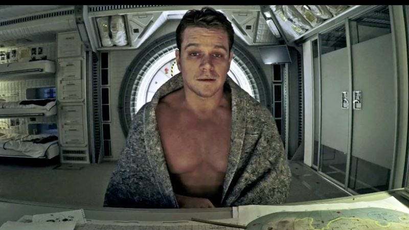 "Funnyman Matt Damon, performing his classic ""slow death on Mars"" routine."