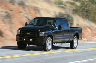Illustration for article titled Jalopnik Reviews: 2007 Ford F250 Outlaw — He Drove He Drove Edition — Part 3