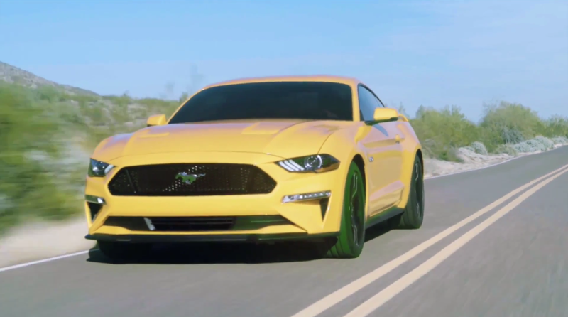 Illustration for article titled Here's The Sad New Face Of The 2018 Ford Mustang