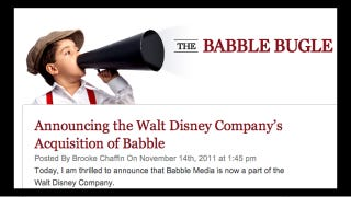 Illustration for article titled Mommyblogging Goes Corporate As Babble Is Sold To Disney